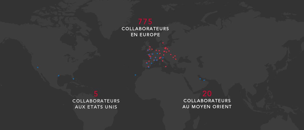 Carte internationale collaborateurs Gazechim